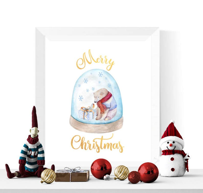 photograph relating to Christmas Printable identify Xmas Printable Watercolor Polar Go through Snowglobe Merry Xmas Printable Xmas Printables Xmas Decorations Electronic