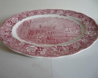 Vintage Palissy Thames River Scenes Datchet Bridge Oval Platter