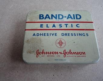 Vintage Johnson & Johnson Band Aid Dressings Tin