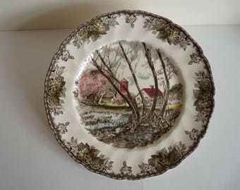 Vintage Willow by The Brook 'Friendly Village' Plate