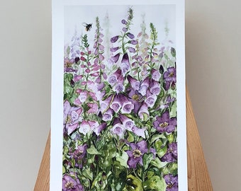 Foxglove and Clematis - Limited edition Giclee Print