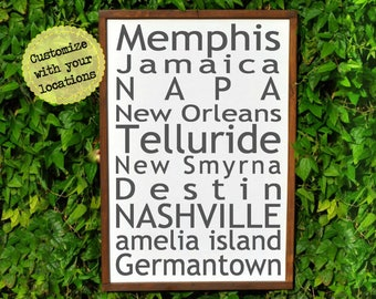 Gifts for Travelers, Travel Gift Personalized Travel Gifts for Men, Travel Decor, Personalized Map, Wanderlust, Adventure, Travel Art