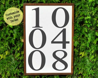 Special Date Sign, Anniversary Gifts for Couples, 5th Anniversary Gifts For Men, Personalized Anniversary Gift for Wife, Wedding Date Sign