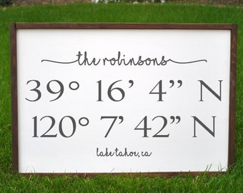 Custom Coordinates, New Home Gift, Housewarming Gift, Special Place, Personalized Housewarming Present, Longitude and Latitude, Wedding Gift