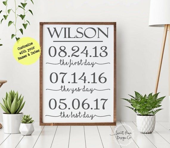 RUSTIC Home Decor Personalized Anniversary Gift for Women  ae1880b73