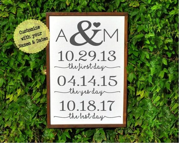 Personalized Wedding Gift For Couple Engagement Monogram Gift Etsy