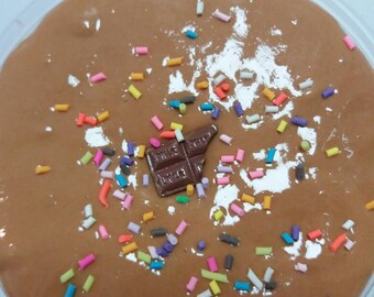 Chocolate Mousse Butter Slime| Comes with charm and fake sprinkles!