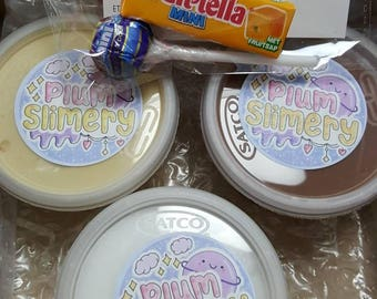 smores slime trio! 3 × 4oz slimes, glossy, cloud and butter slimes!