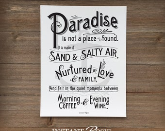 Paradise - Instant download