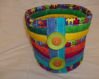 Quilted basket (small)