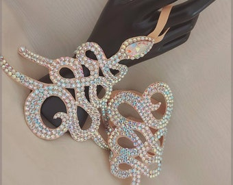 Rhinestone bracelts Ballroom dance hand jewelry, dance competition individual costume bracelets, crystal dance accessories Ballroom dance