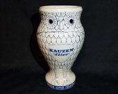 Owl Stein KAUZEN Bier Handmade Stoneware Salt Glazed Cup Westerwald Pottery