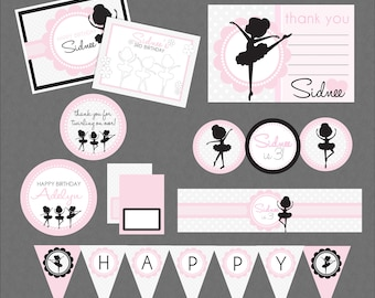 Sweet Ballerina Birthday Mega Printable Party Pack - Dance Birthday Party , Ballerina Party Decorations , Ballerina Birthday , Dance Party