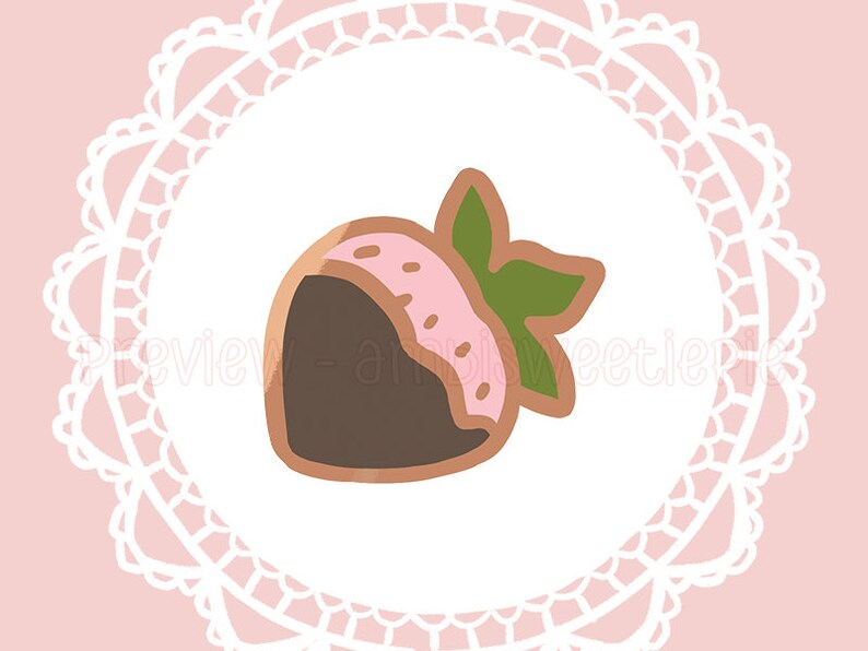 Tiny Chocolate Strawberry Enamel Pin