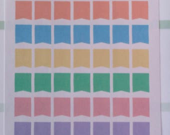 Pastel Small Flags (42 Stickers)