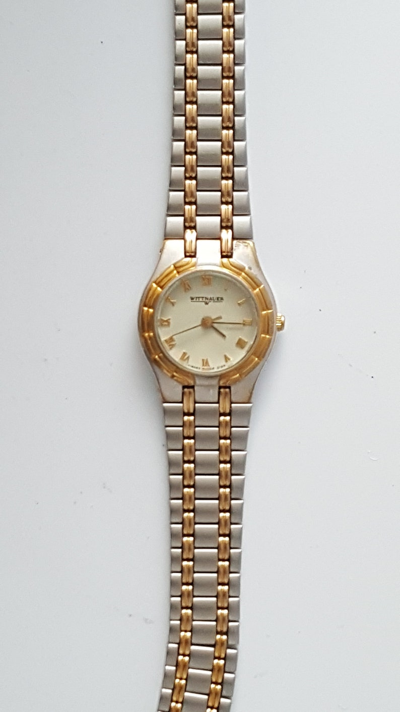fa3d96584e2 Ladies WITTNAUER QUARTZ watch two tone case and bracelet