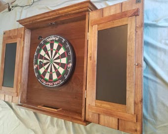 Genial Custom Hand Crafted Dart Board Cabinet, With 2 Pc. Crown Molding. And Sill,  Chaulk Brds Each Door And Chaulk Tray At Bottom