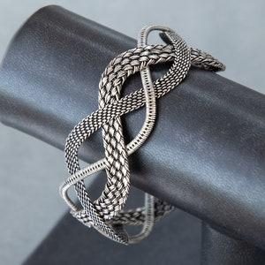 Sterling Celtic Cuff ~ Silver Celtic Lace Design Cuff Bracelet ~ Dainty Elegant Thin Wire Modern Unique