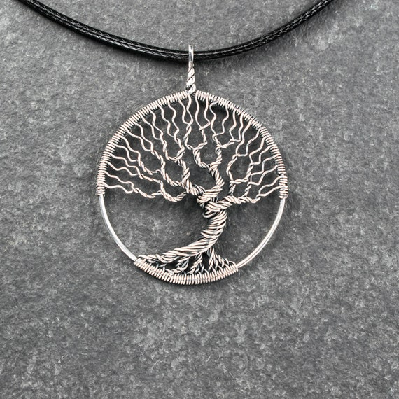 Tree-of-life necklace Wire wrapped jewelry Silver tree pendant | Etsy