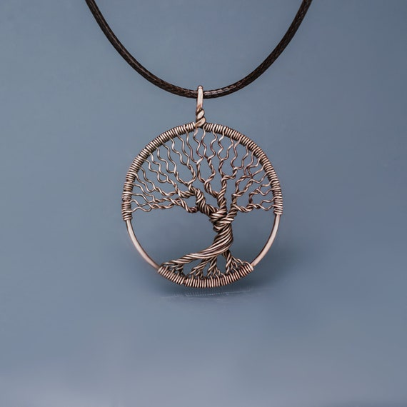 Family tree of life Wire wrapped jewelry Tree life pendant  f18cc0e9d