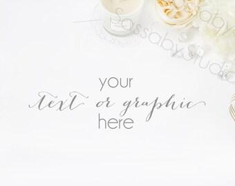 Download Free White Wedding Desk Styled Stock Photography / Product Mockup / Styled Photo / Blog / Website / Sassaby Studios / Wedding Mockups #9296 PSD Template