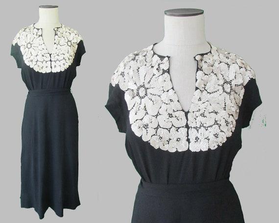 Vintage 1940/'s Eisenburg /& Sons Original Dress