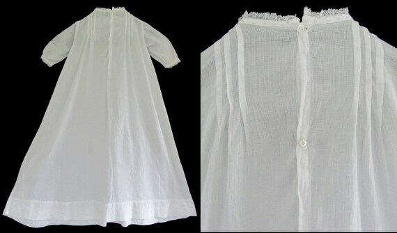 Antique Vintage Baby or Doll Christening Gown Nig… - image 3