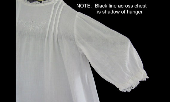 Antique Vintage Baby or Doll Christening Gown Nig… - image 2