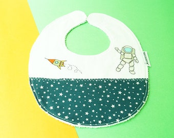 Burp Cloth Handpainted Organic Cotton Baby Bandana Bib with Adjustable Snaps Authentic Baby Gift Baby Shower Gift Teething Bib