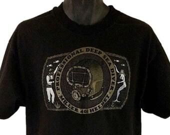 Deep Sea Diver T Shirt Vintage 90s Miller 400 Helmet Mermaid Single Stitch Mens Size Large EUC