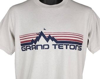 80s Grand Teton National Park All Over Moose t-shirt Medium