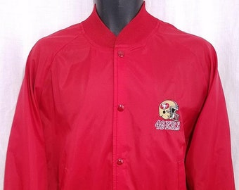 06bbd340bbf San Francisco 49ers Chalk Line Windbreaker Bomber Jacket Vintage 80s Made  In USA Mens Size Large