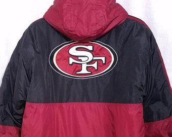 San Francisco 49ers Starter Jacket Vintage 90s Winter Size Boys Large Mens  Small 4335b2bad6
