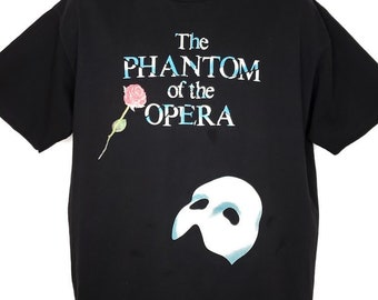 838ab105a Phantom Of The Opera T Shirt Vintage 80s Broadway Musical Andrew Lloyd  Webber Made In USA Mens Size XL