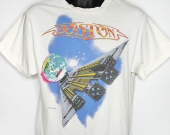 62d0b9718 Boston Band US Tour T Shirt Vintage 80s 1987 Third Stage Concert Made In  USA Mens Size Large Tall