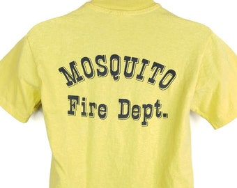Mosquito Volunteer Fire Department T Shirt Vintage 80s Made In USA Mens Size Medium