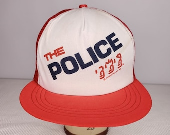 a8a6329964a The Police Ghost In The Machine Hat Vintage 80s 1982 Tour Concert Trucker  Cap Ron Boutwell Entertainment Sting VERY RARE
