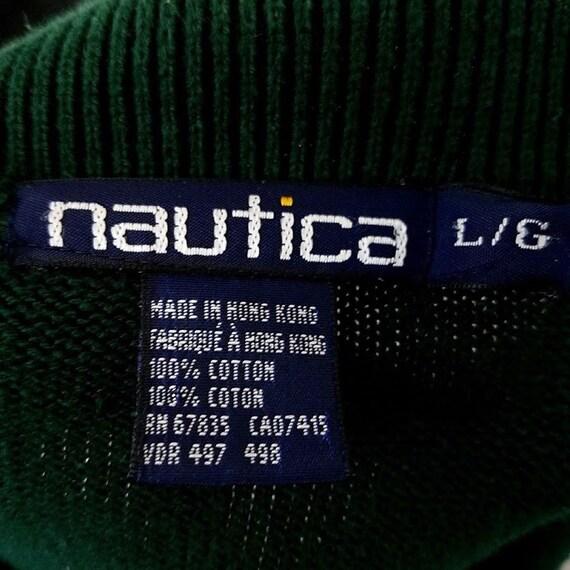 Nautica col pull Vintage des années 90 Polo col Nautica losanges bleu vert jaune pour homme taille l 8278e7