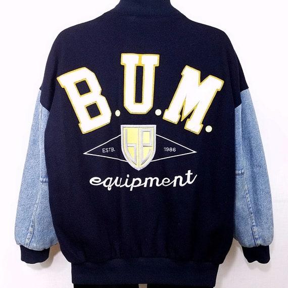 BUM Equipment Varsity Bomber Jacket Vintage 90s Wo