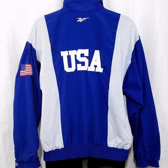 90 Années Reebok Windbreaker Gymnastique Usa Des Jacket Vintage Rq4jA35L