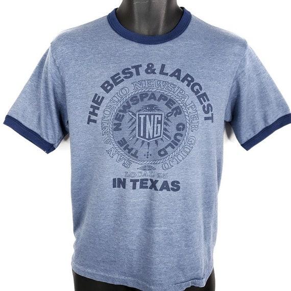 San Antonio Newspaper Guild T Shirt Vintage 80s Lo