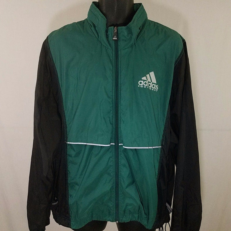 b49899aace9a Adidas Equipment Windbreaker Jacket Vintage 90s Full Zip Roll