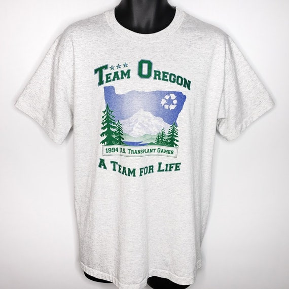 Team Oregon T Shirt Vintage 90s 1994 US Transplant