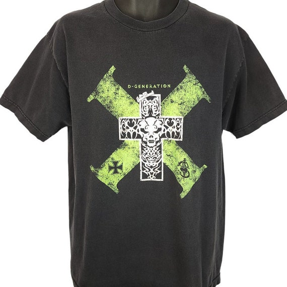 DX T Shirt Wrestling D Generation X Men and childs Fluorescent Green Graphic