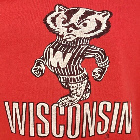Wisconsin Badgers Sweatshirt Vintage 80s Jersey N… - image 5