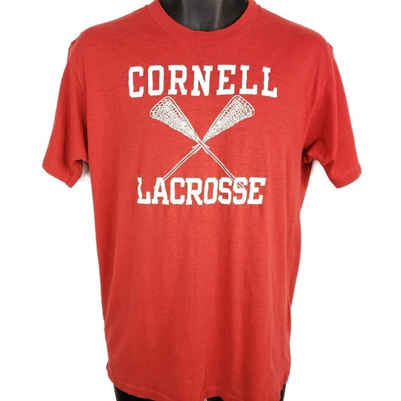 Cornell University Big Red Lacrosse T Shirt Vintag