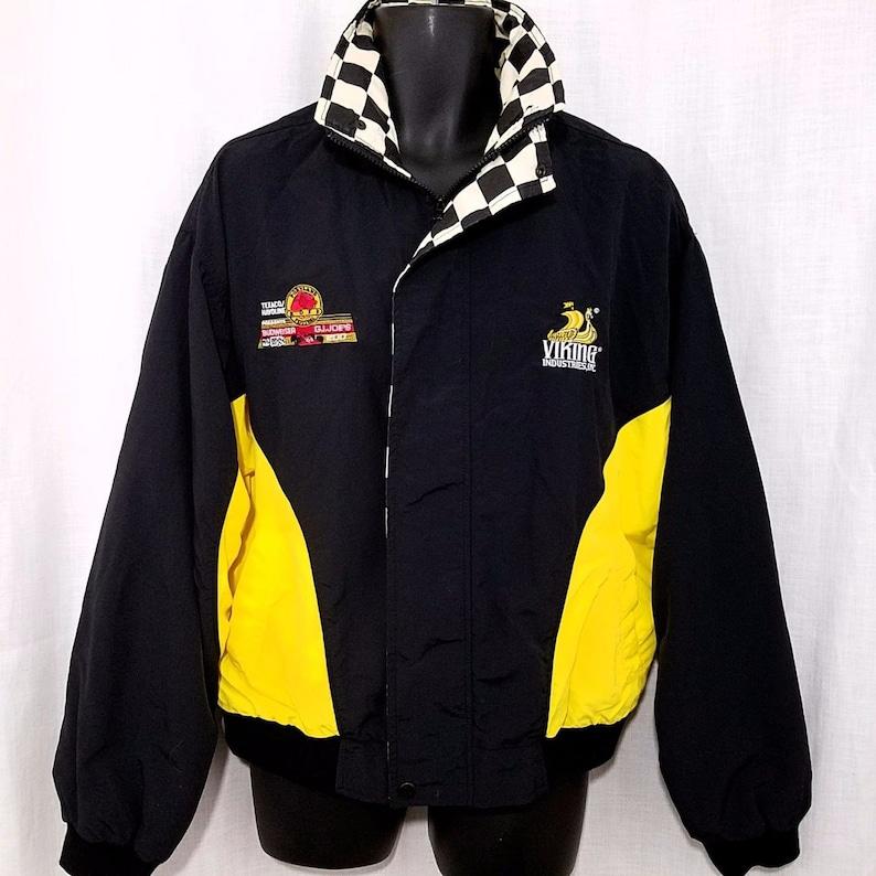 a5165151de9f Dale Jarrett 28 SIGNED IndyCar Racing Jacket Vintage 90s