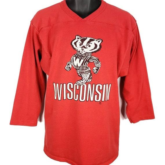 Wisconsin Badgers Sweatshirt Vintage 80s Jersey NC