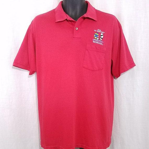NOSA Newport Ensenada Polo Shirt Vintage 90s 1995