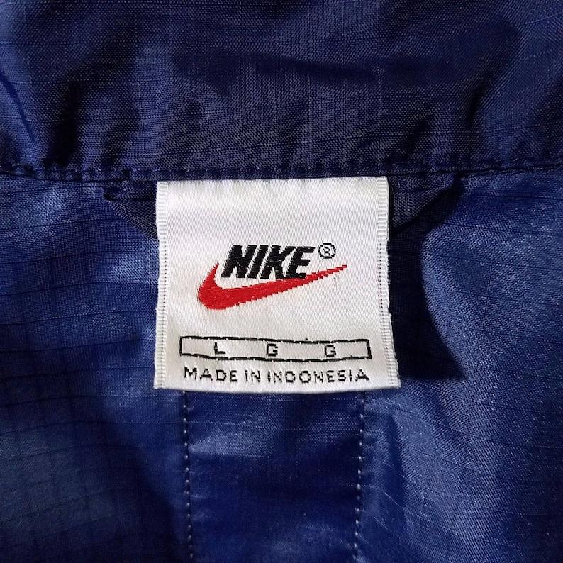 c079551ba9cd Nike Windbreaker Jacket Vintage 90s Full Zip Racer Racing
